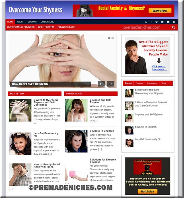 shyness wordpress website templates