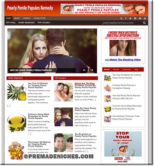 pearly penile papules wordpress plr website