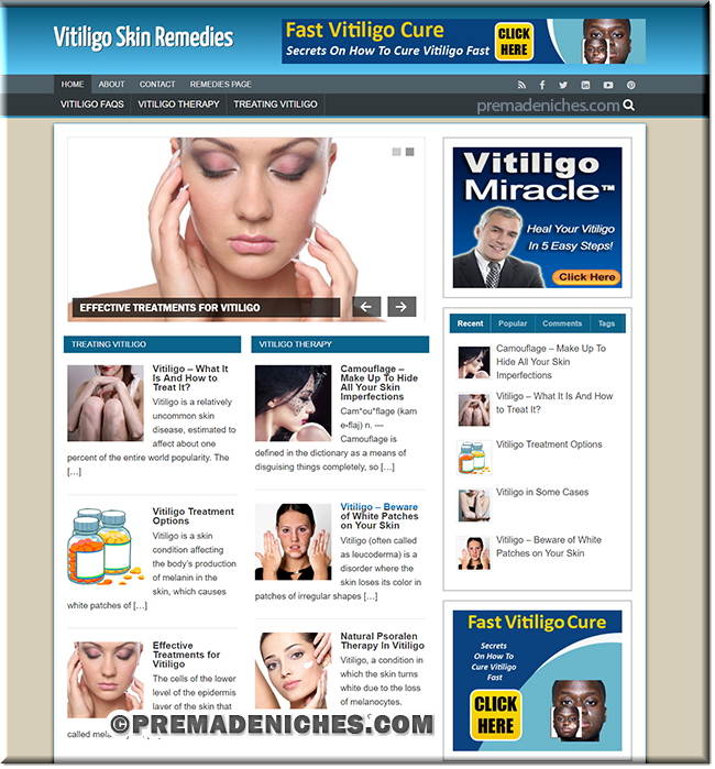 vitiligo wordpress site templates