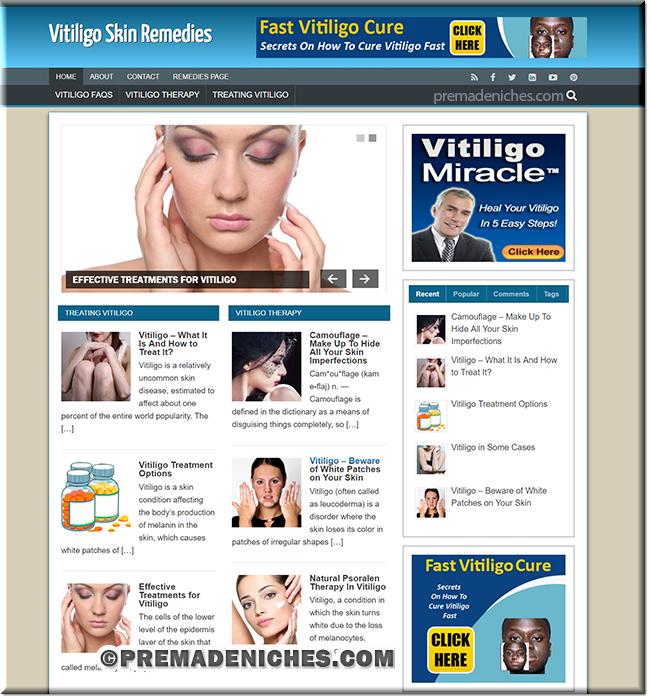 vitiligo wordpress site templates