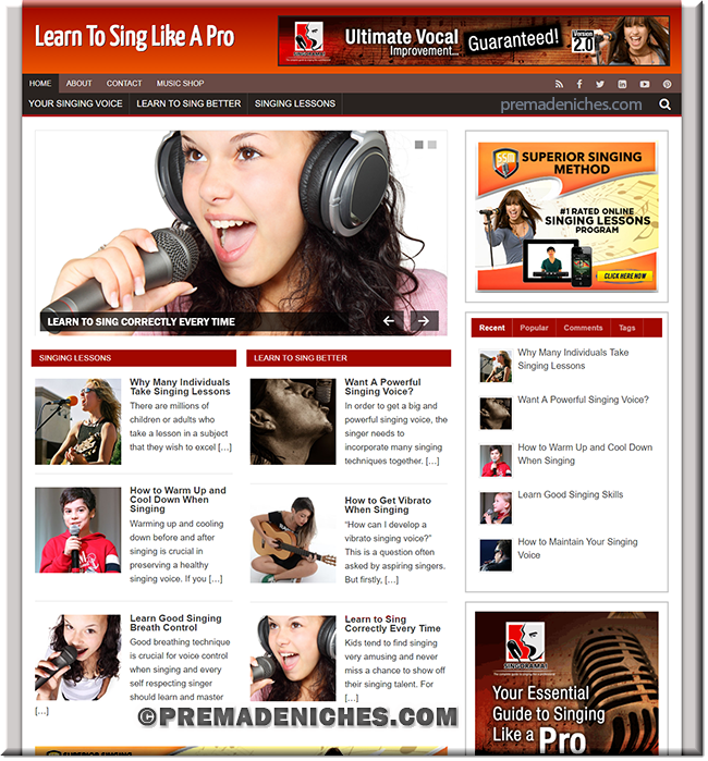 learn to sing plr website