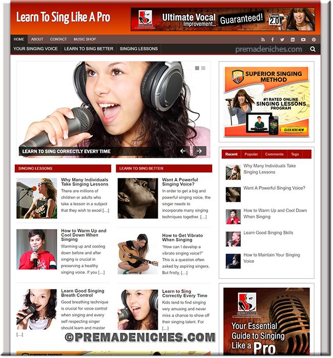 learn to sing plr website
