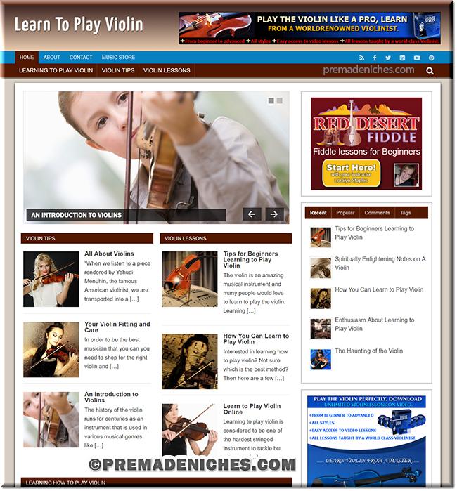 learn violin plr affiliate blog