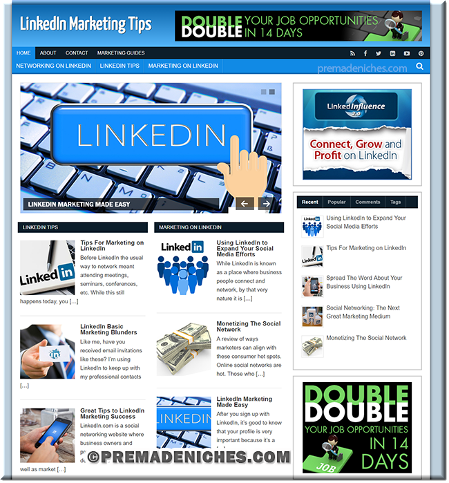 linkedin plr affiliate site