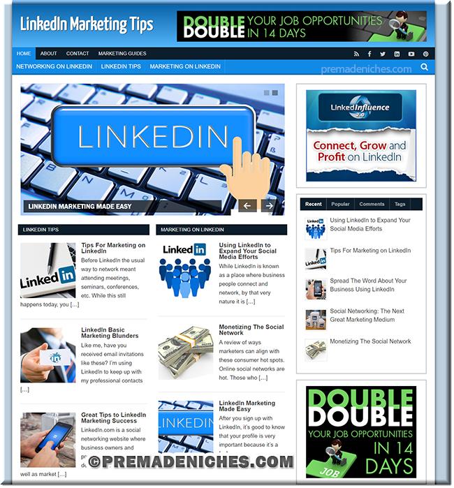 LinkedIn Marketing PLR Website