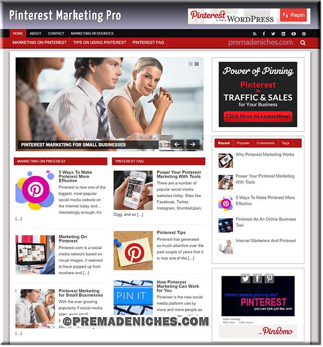 pinterest pre made affiliate blog