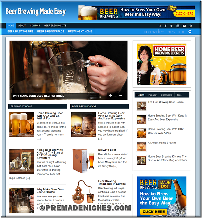 beer brewing money making sites