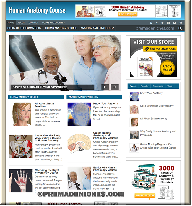human anatomy turnkey wordpress website