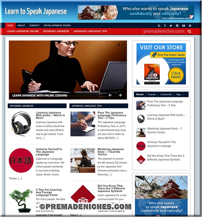 learn japanese turnkey wordpress blog