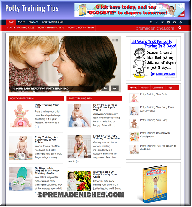 potty train wordpress blog site