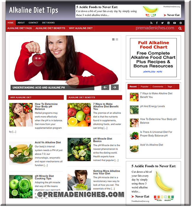 alkaline diet wordpress website