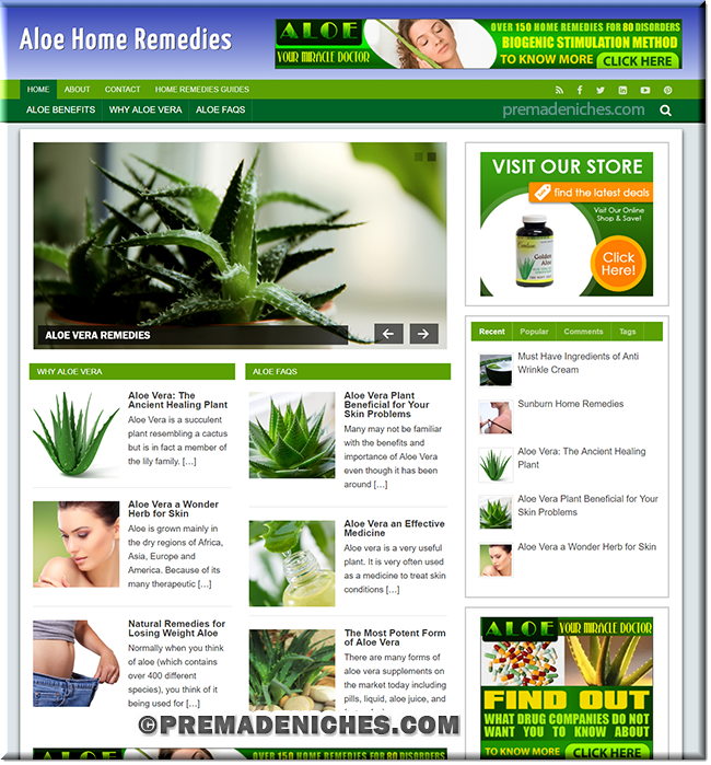 aloe vera turnkey plr website