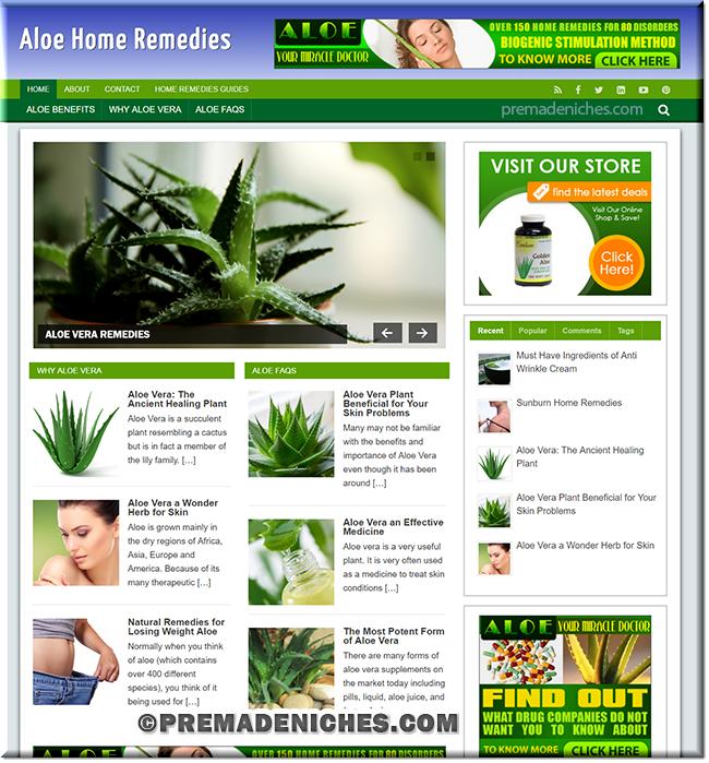 Aloe Remedies Turnkey Website