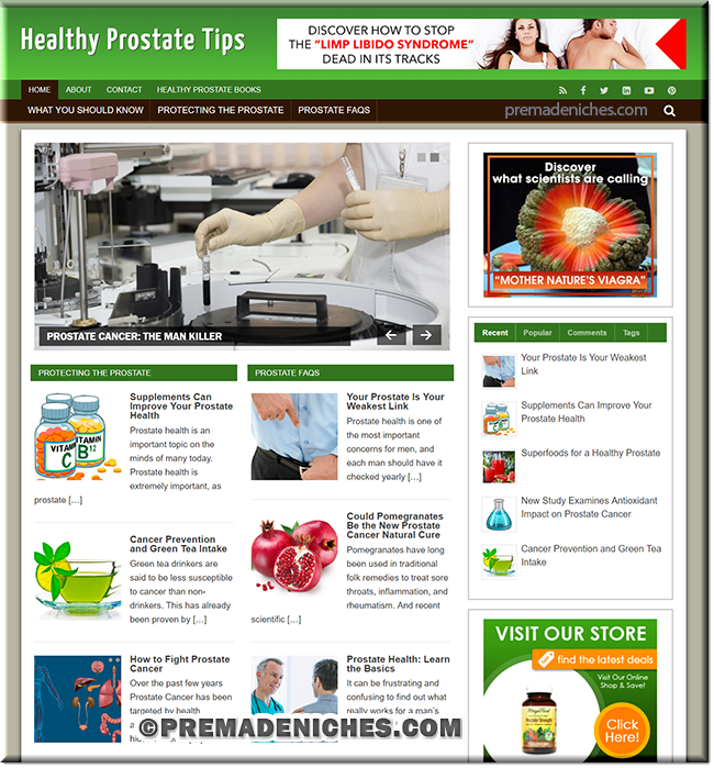 healthy prostate plr website