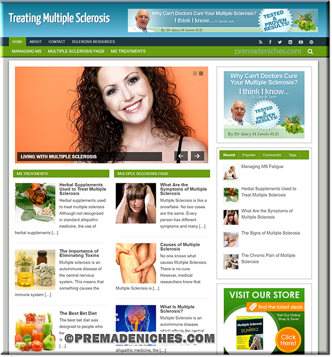 multiple sclerosis premade plr website