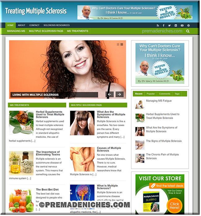 multiple sclerosis premade plr website