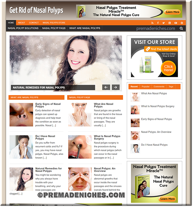 nasal polyps pre made niche website