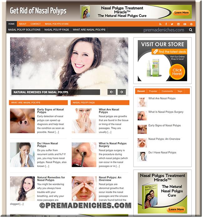nasal polyps pre made niche website