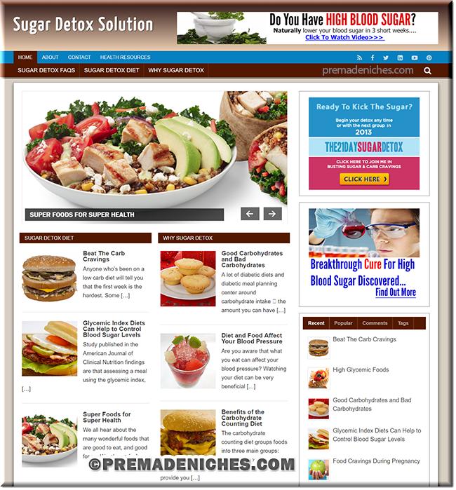 sugar detox premium site templates