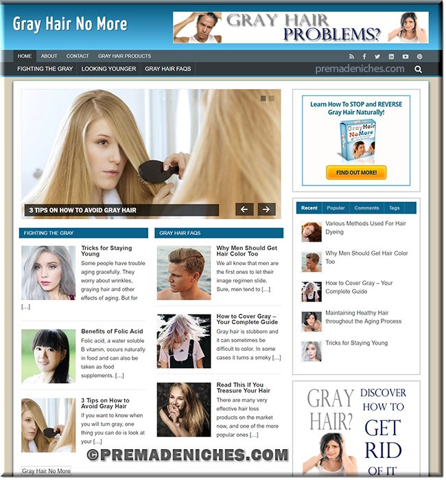 gray hair ready made website