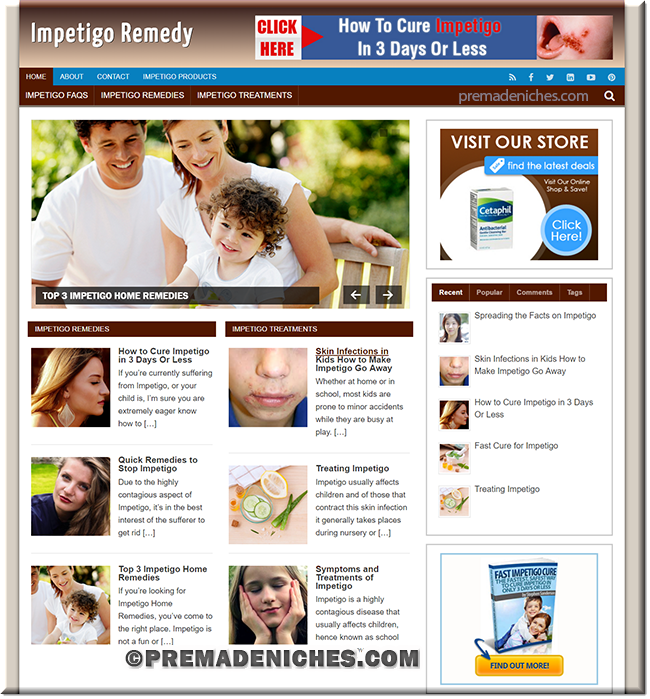impetigo ready made wordpress website
