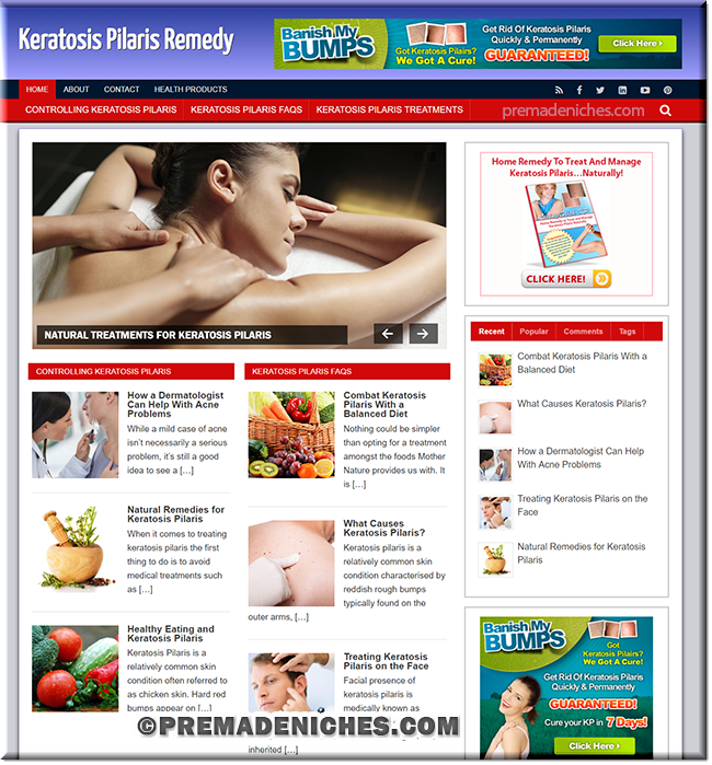 keratosis ready made wordpress site