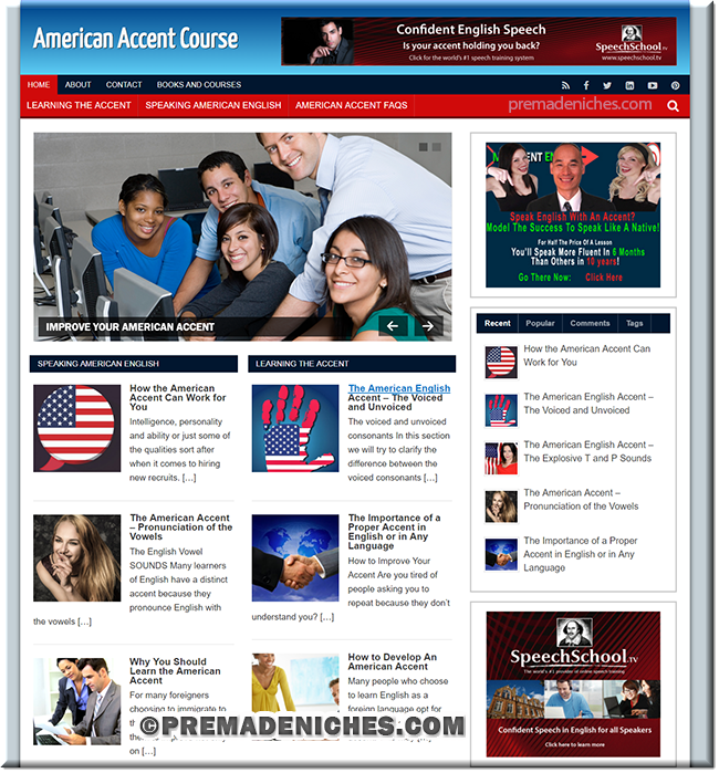 american accent wordpress blog site