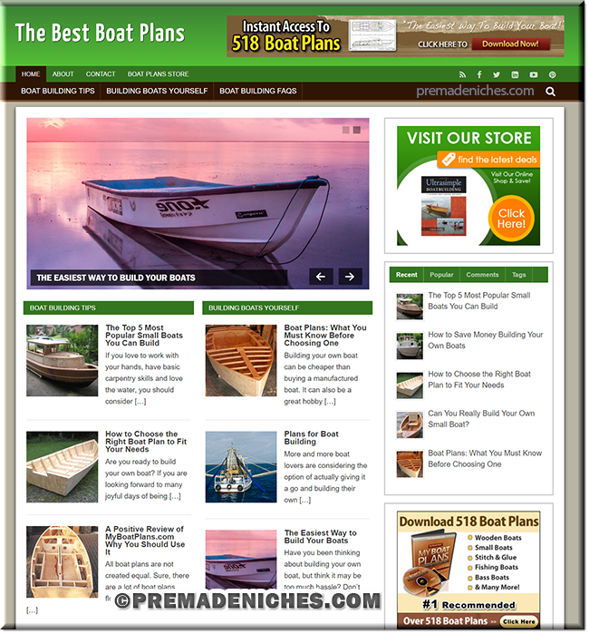boat plans wordpress designed site