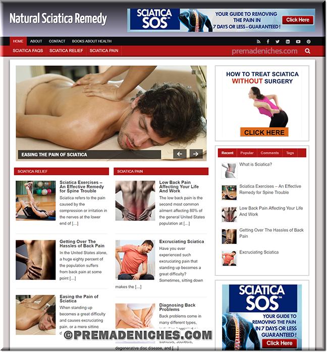 Sciatica Remedy Turnkey Site