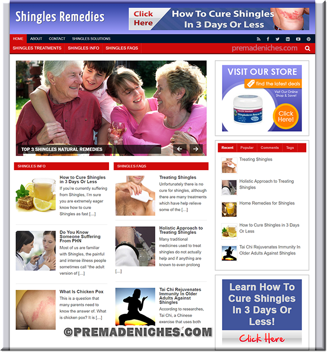 shingles ready made affiliate websites