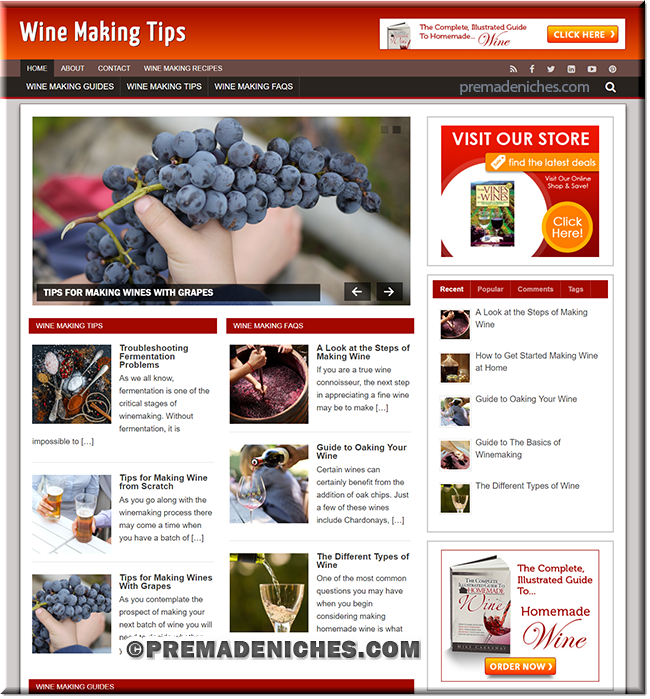 wine making ready made blog
