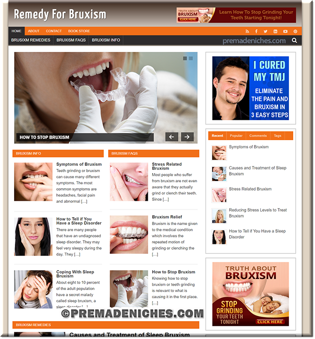 bruxism ready made website