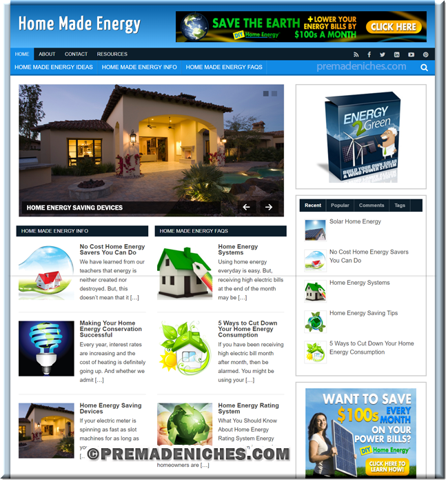 home energy ready made information site