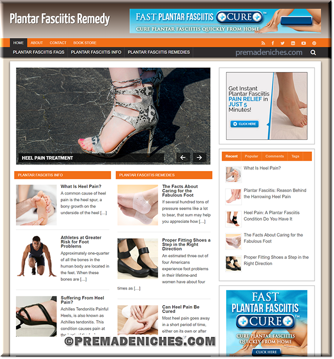 Plantar Fasciitis PLR wordpress site