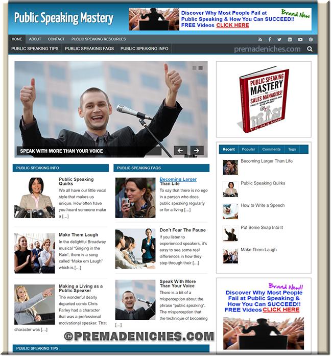 public speaking niche site