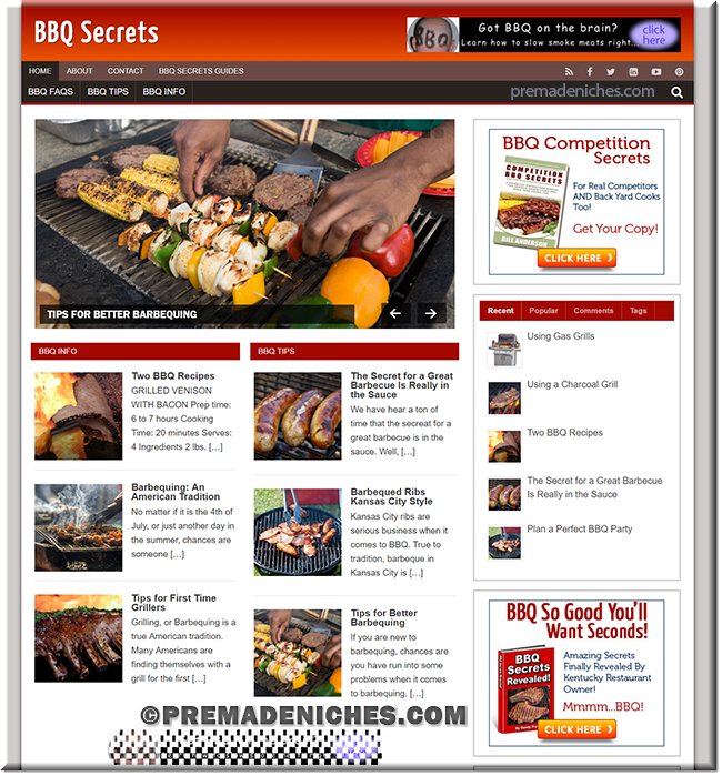barbeque turnkey WordPress website