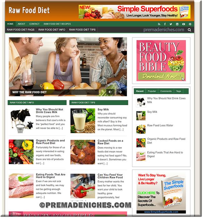 Raw Food Diet Niche Site