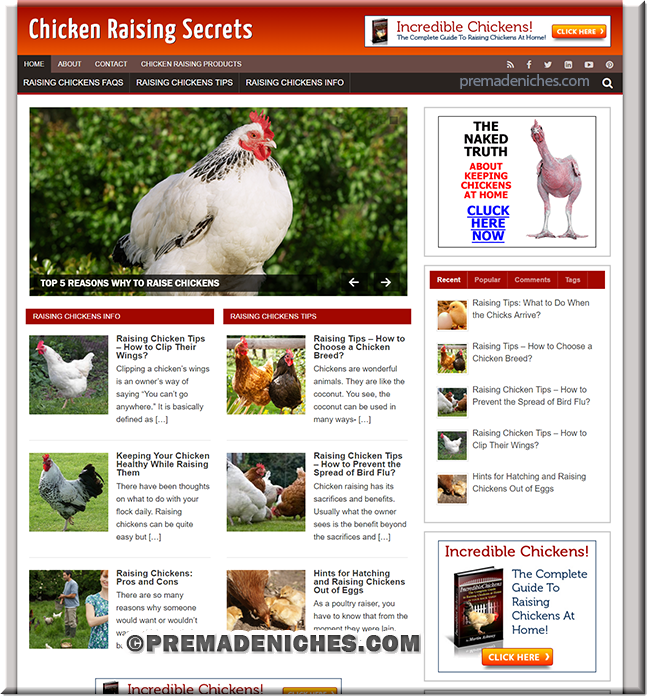chicken raising clickbank turnkey site