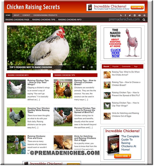 Chicken Raising WordPress PLR Blog
