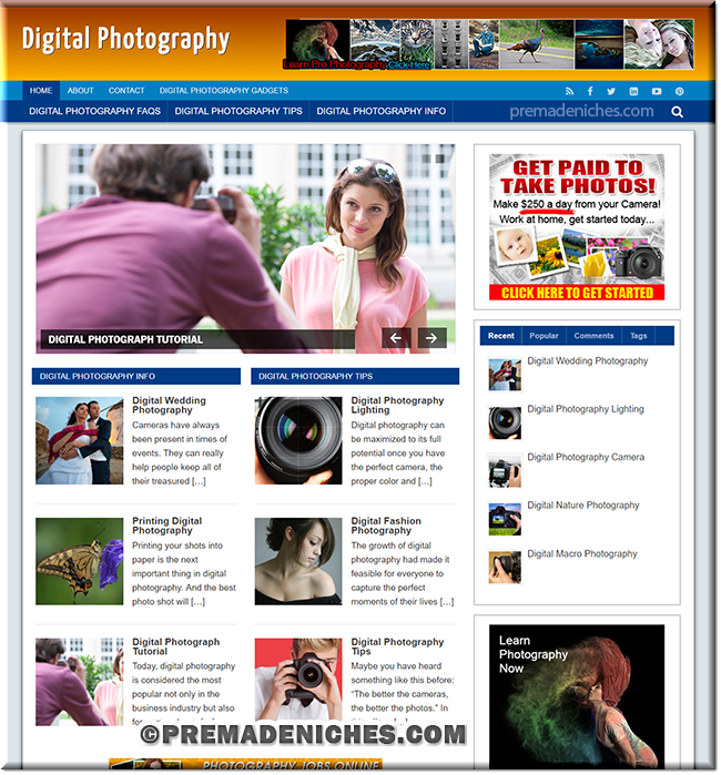 digital photography best wordpress templates