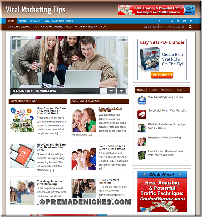 viral marketing turnkey wordpress site