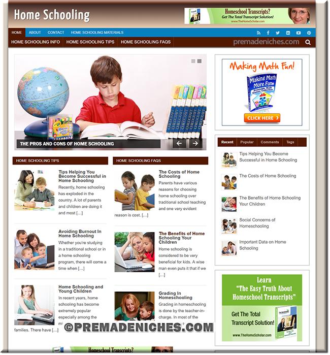 home schooling niche blog
