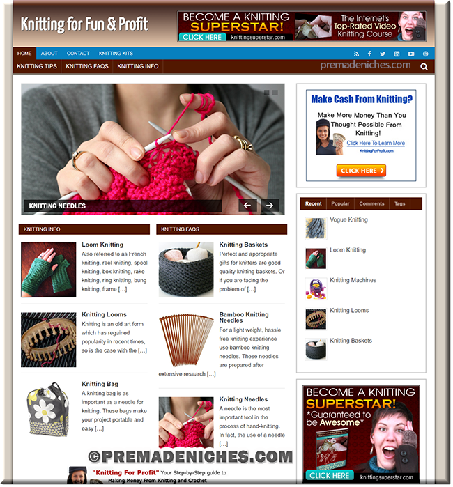 knitting niche website