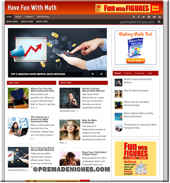 math fun PLR website