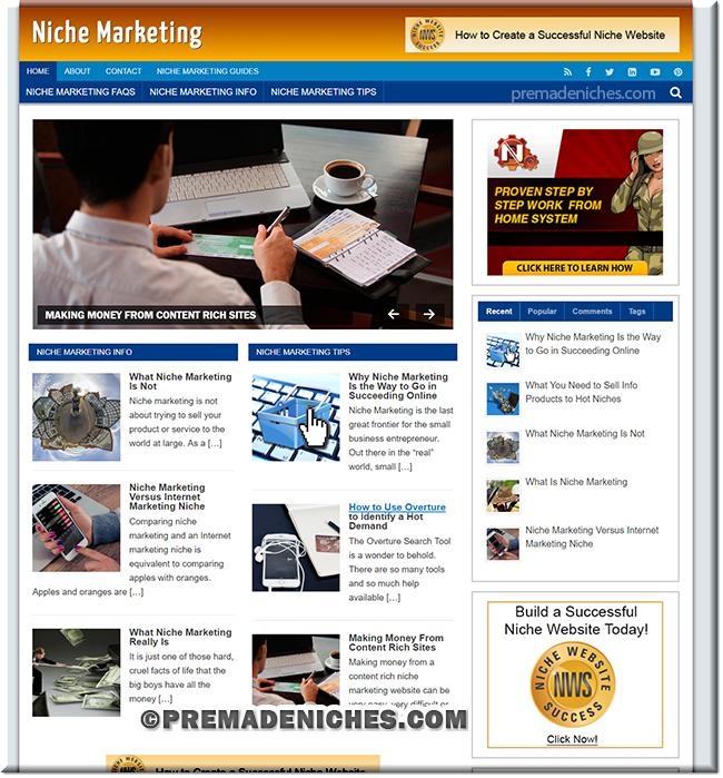 niche marketing turnkey website
