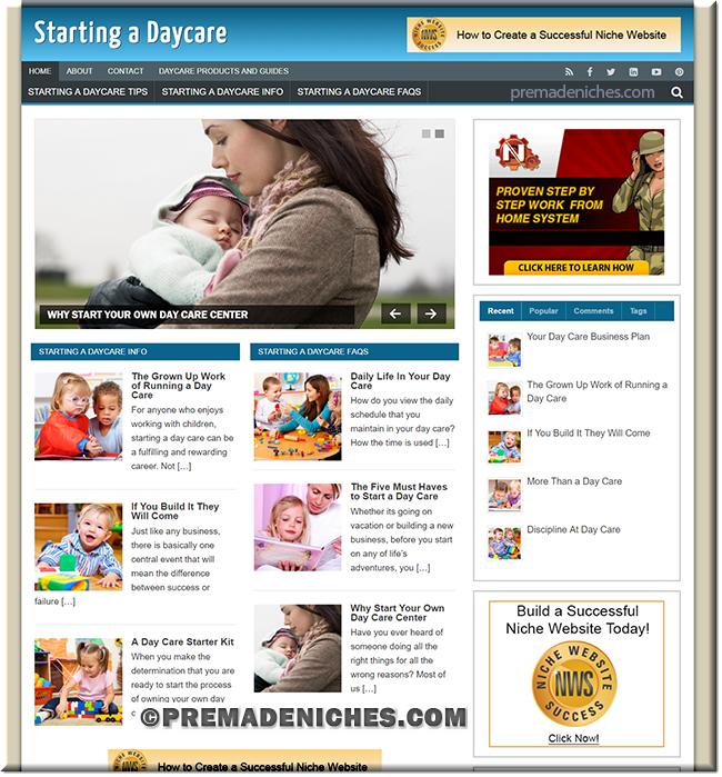 start daycare ready to go website