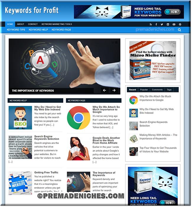 keywords profit plr website
