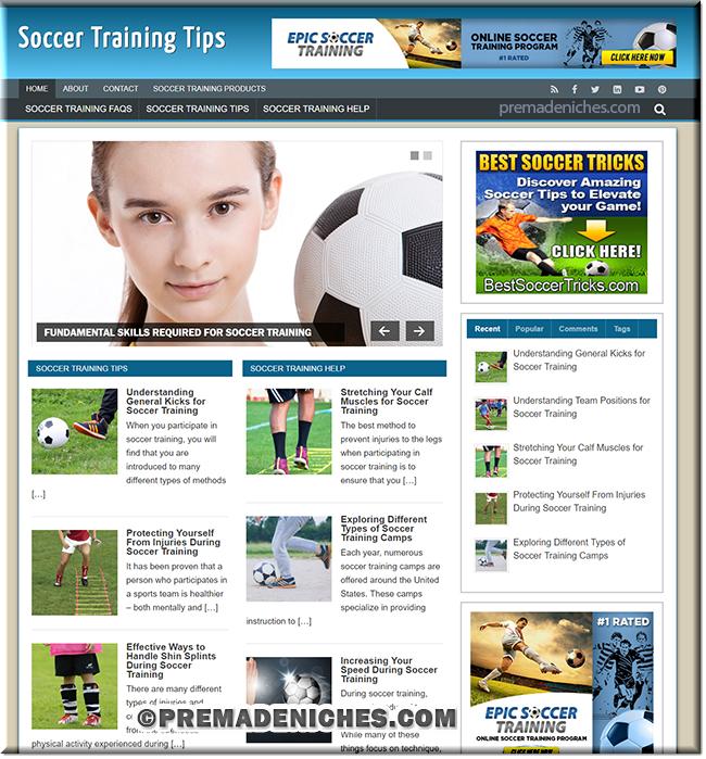 Soccer Training PLR Site