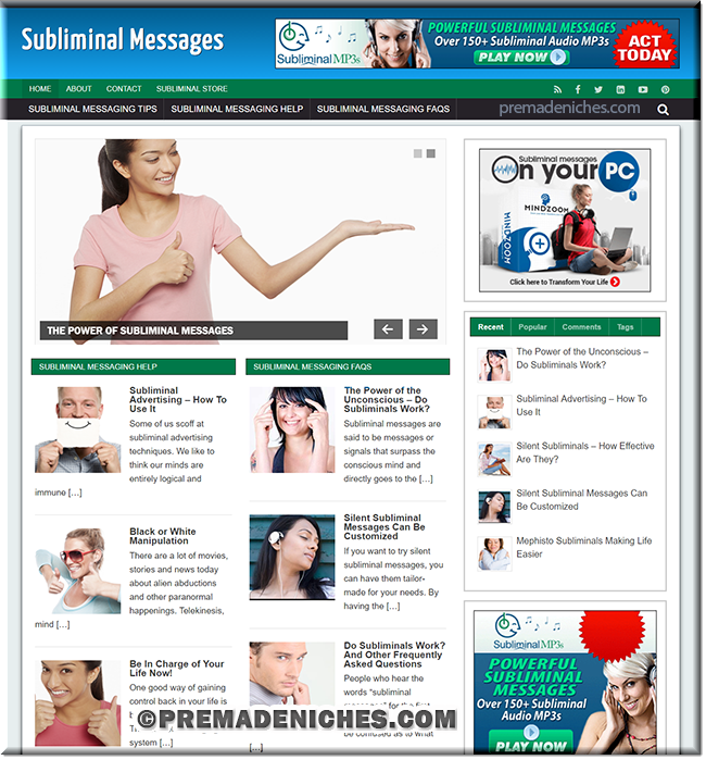subliminal message plr site