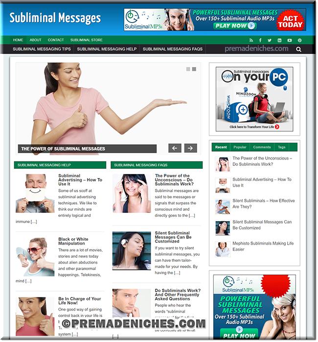subliminal message plr site